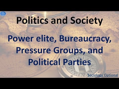 Power elite, Bureaucracy, Pressure groups and Political parties Sociology Optional UPSC CSE