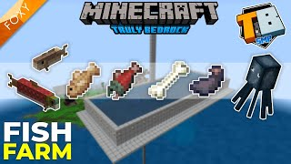 FISH FARM +Bone +Ink Sac | MCPE | Truly Bedrock Season 2 [8] | Minecraft Bedrock Edition 1.14 SMP