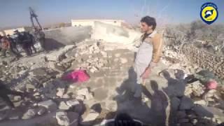 مؤثر.. انتشال امرأة من تحت أنقاض إدلب