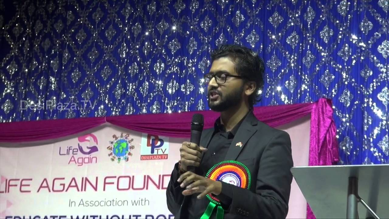 Dr.Praveen Mishra ,Cancer Research Scientist speaking at Life Again World wide Launch Event.