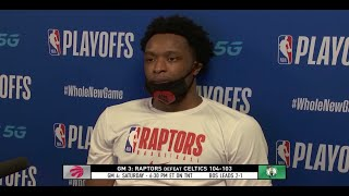 "OG Anunoby On Game 3 Buzzer-Beater: ""I Don't Shoot Trying To Miss"""
