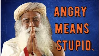 Sadhguru -next time you're angry - know you're stupid