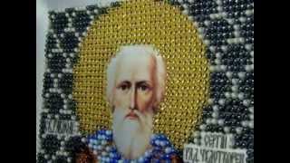 Готовая вышивка икона Сергий Радонежский