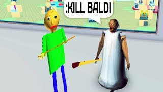 BALDI VS GRANNY MIT ADMIN COMMANDS IN ROBLOX!