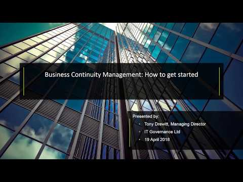 Business Continuity Management: How to get started