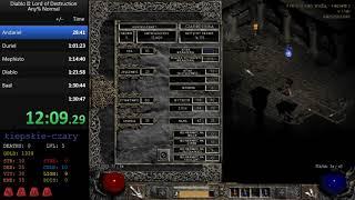 Diablo II: LoD - Any % sorc norm 1:24:42 [PB]