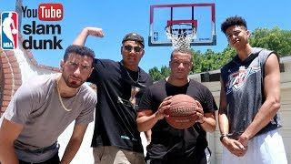 Youtuber basketball dunk challenge!!!