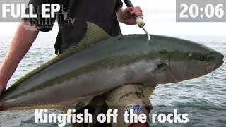 Yellowtail Kingfish off the Rocks - ULTIMATE FISHING TV
