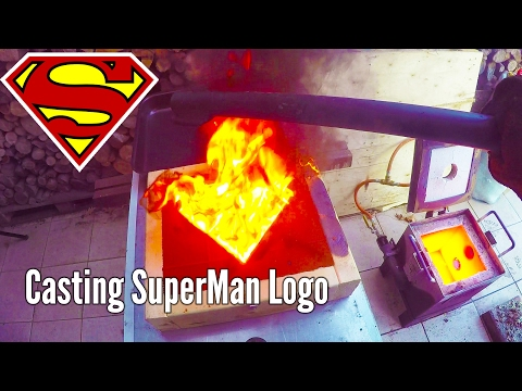 Making Gold SuperMan Logo