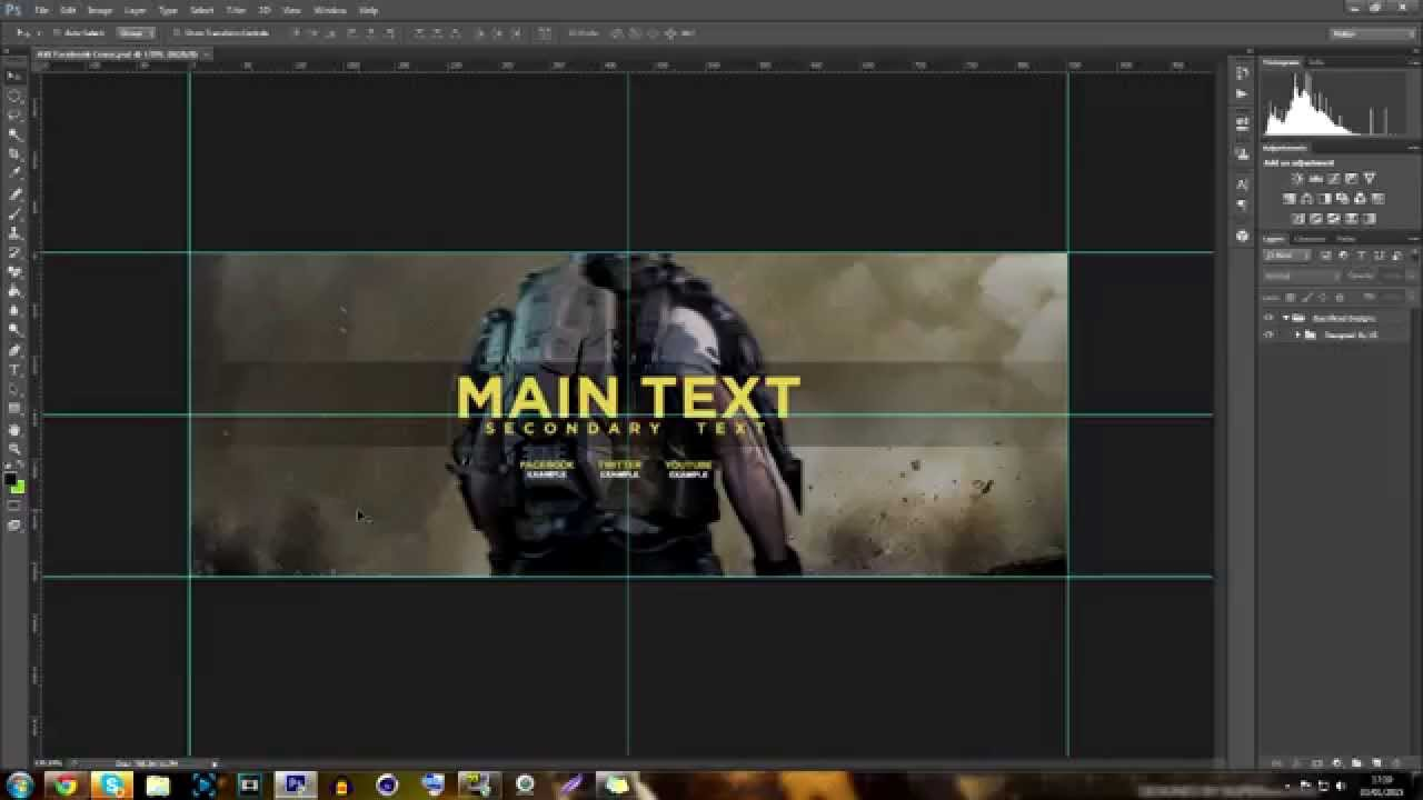 Free Gfx Free Facebook Cover Template Call Of Duty Aw Psd 2015