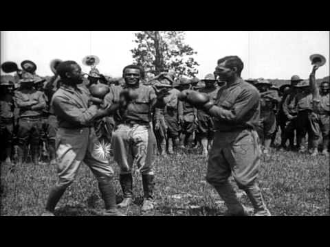 Recruits fight in a boxing match during training at Fort George G Meade in Maryla...HD Stock Footage