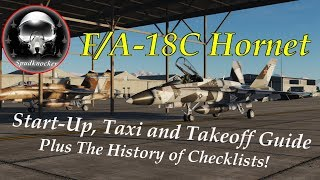 DCS F/A-18C Hornet   Start-Up   Taxi & Take Off Tutorial!