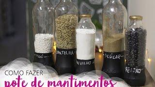 Porta mantimentos: como reciclar garrafas de vidro