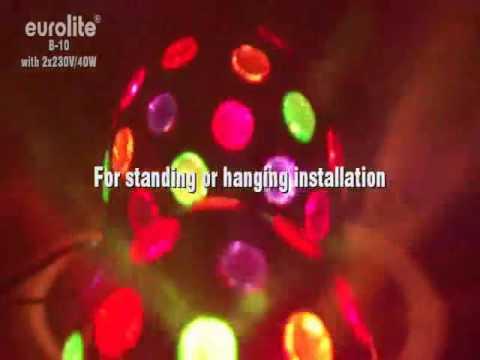 Duplo iluminação disco bola giratória - EUROLITE B10
