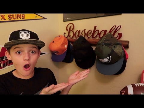 Mason Shows Off His Hat Collection