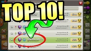 OMG! IM IN THE TOP 10!! - Clash Of Clans - PUSH TO 6000 TROPHY'S!