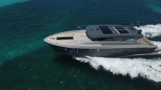 Delta Powerboats 54 Carbon Cruiser Navigating Cat Cay