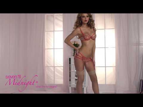 A La Rose Nude Mesh And Lace Bra Set