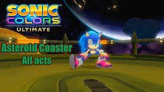 Sonic Colors Ultimate en Español (PC) - Asteroid Coaster All Acts + Boos Gameplay - No comentado