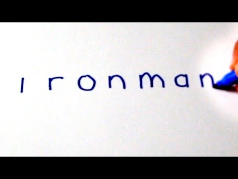 Drawing IRON MAN from his NAME