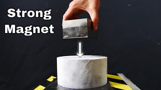 Dropping a Giant Monster Magnet on -196°C Aluminum—Surprising Eddy Current Demonstration