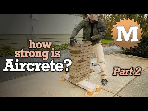 How Strong is Aircrete? Deflection Test Lightweight Concrete Garden Box Panels