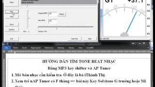 [Harpsheet] Hướng dẫn chuyển beat nhạc về tone C