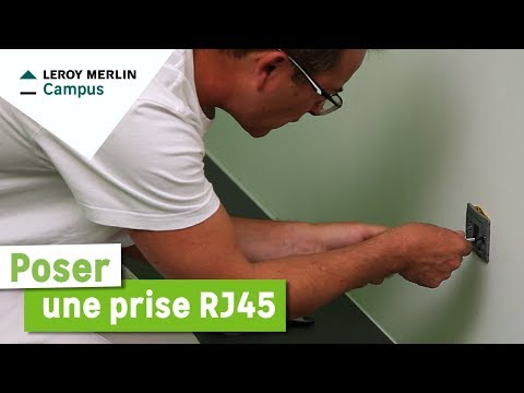 Comment Poser Une Prise Rj45 Leroy Merlin Youtube