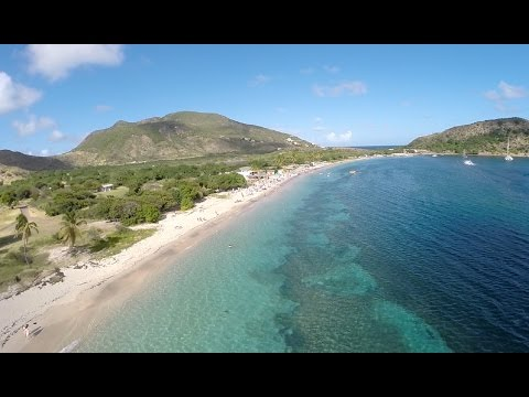 Drone Action !!!!! Cockleshell Beach in St Kitts (HD 1080p)