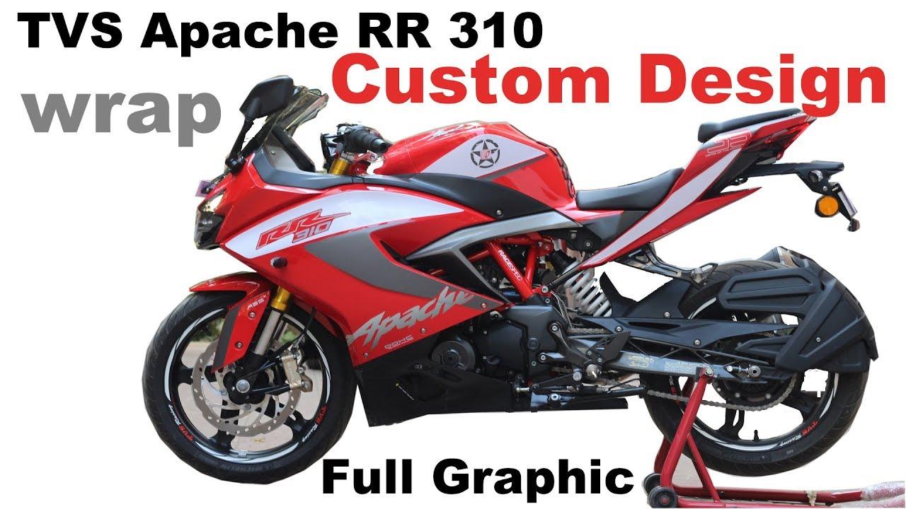 1st apache rr310 custom design full decent bike wrap sticker