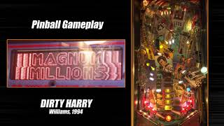 Dirty Harry pinball machine gameplay + commentary (Williams, 1994) - CRIME WAVE