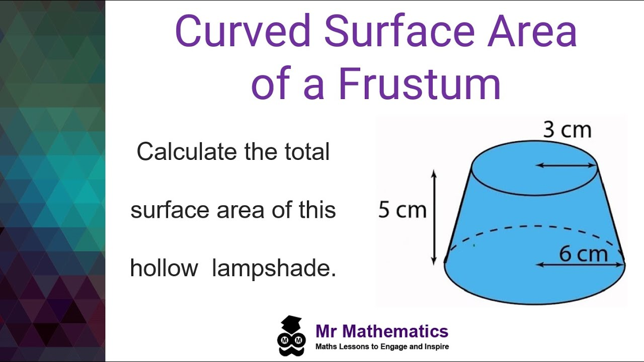 Curved Surface Area of a Frustum - YouTube