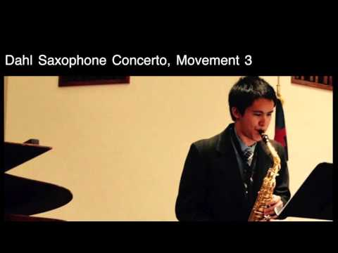 Dahl Saxophone Concerto, Movement 3- Peter Martin