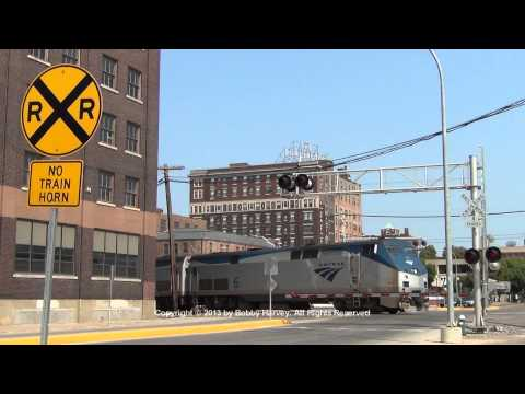 Amtrak California Zephyr arrives in Burlington, IA 8/24/13