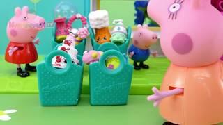 🍒 Свинка Пеппа и Джордж играют в челлендж с шопкинс. Мультики для детей с игрушками