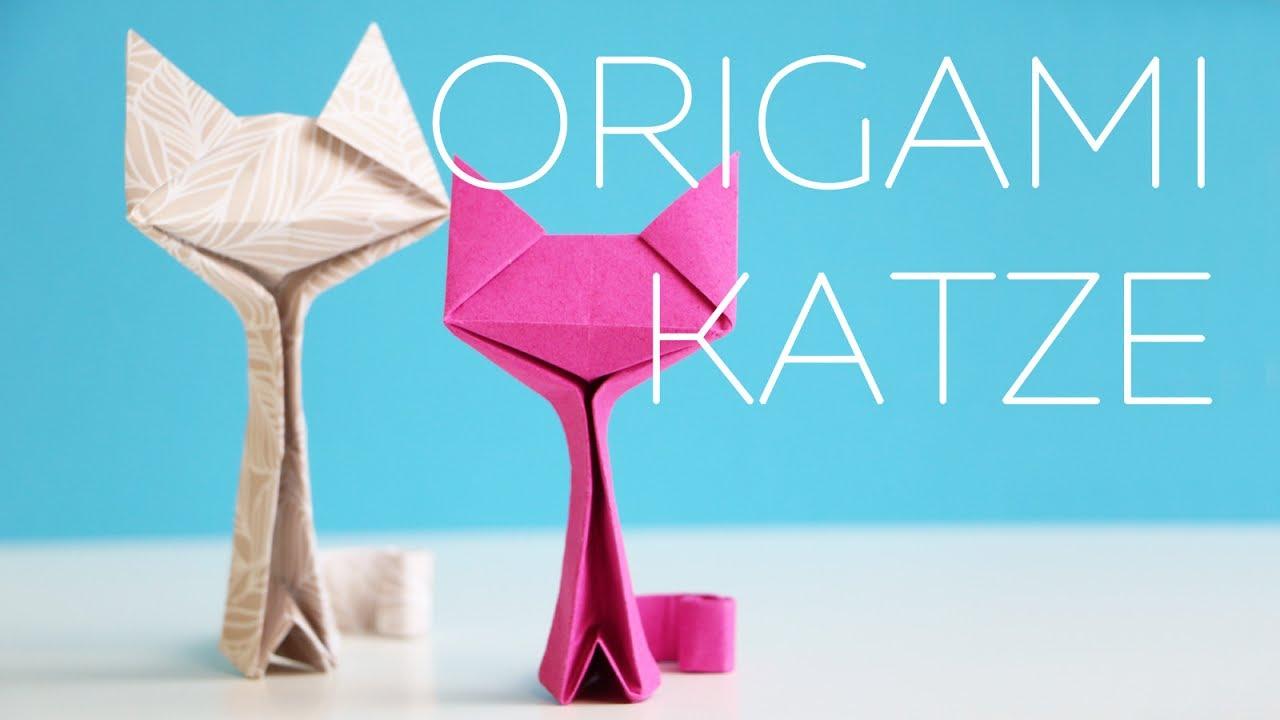 origami katze falten anleitung youtube