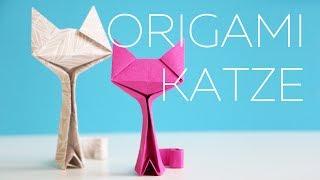 Origami Katze falten - Anleitung - Talu.de