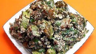 Вкуснейшие кабачки всего за 25 минут. Кабачки в ореховой заправке