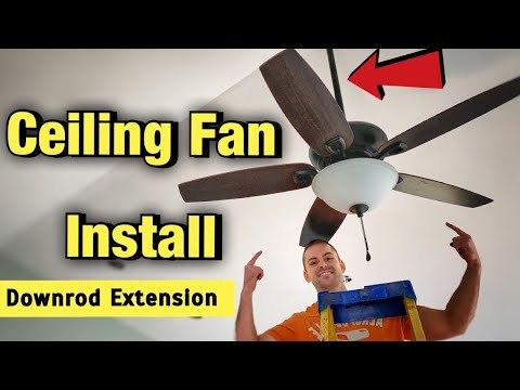 how-to-install-a-ceiling-fan---harbor-breeze-coastal-creek-downrod-extension