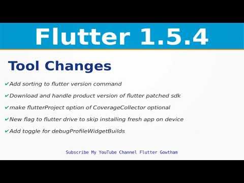 Flutter Tool Changes | Flutter 1 5 4 Release Updates | iOS | Web | Google  I/O 2019