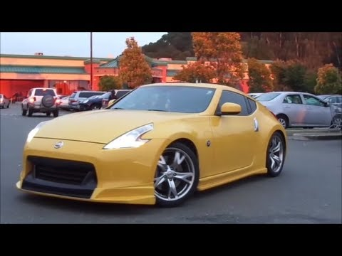 2013 STUNNING Yellow Amuze WideBody Nissan 370Z W/ LOUD Stock ...