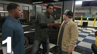 Grand Theft Auto 5 PS4 Gameplay Walkthrough Part 1 - Franklin and Lamar!