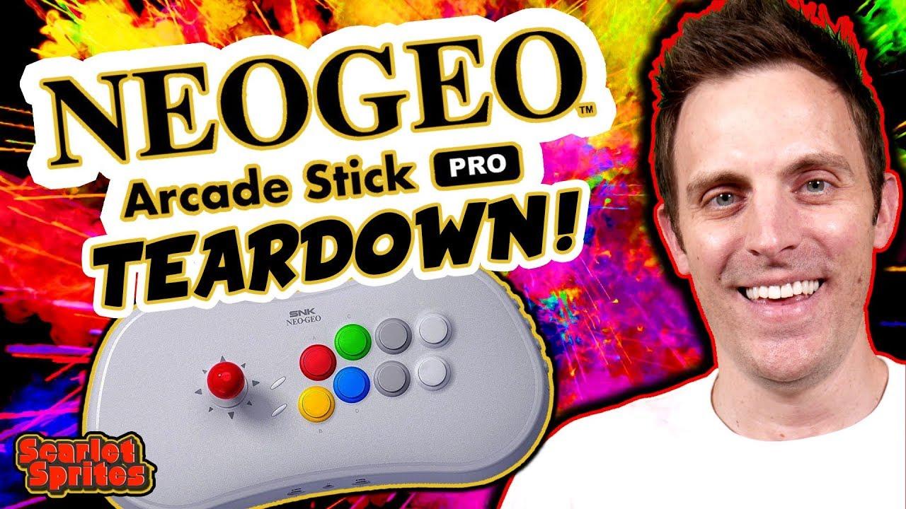 Neo Geo Arcade Stick Pro - Teardown & Mod Potential - YouTube