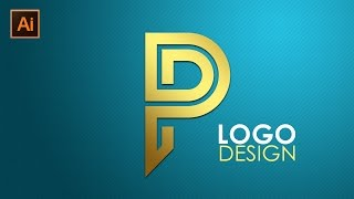 Adobe Illustrator CC Tutorial Text Effect Letter Logo Design