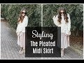 How To Style The Pleated Midi Skirt