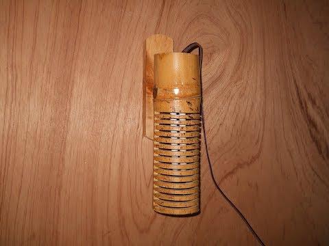 Cara Membuat Lampu Dinding Dari Bambu