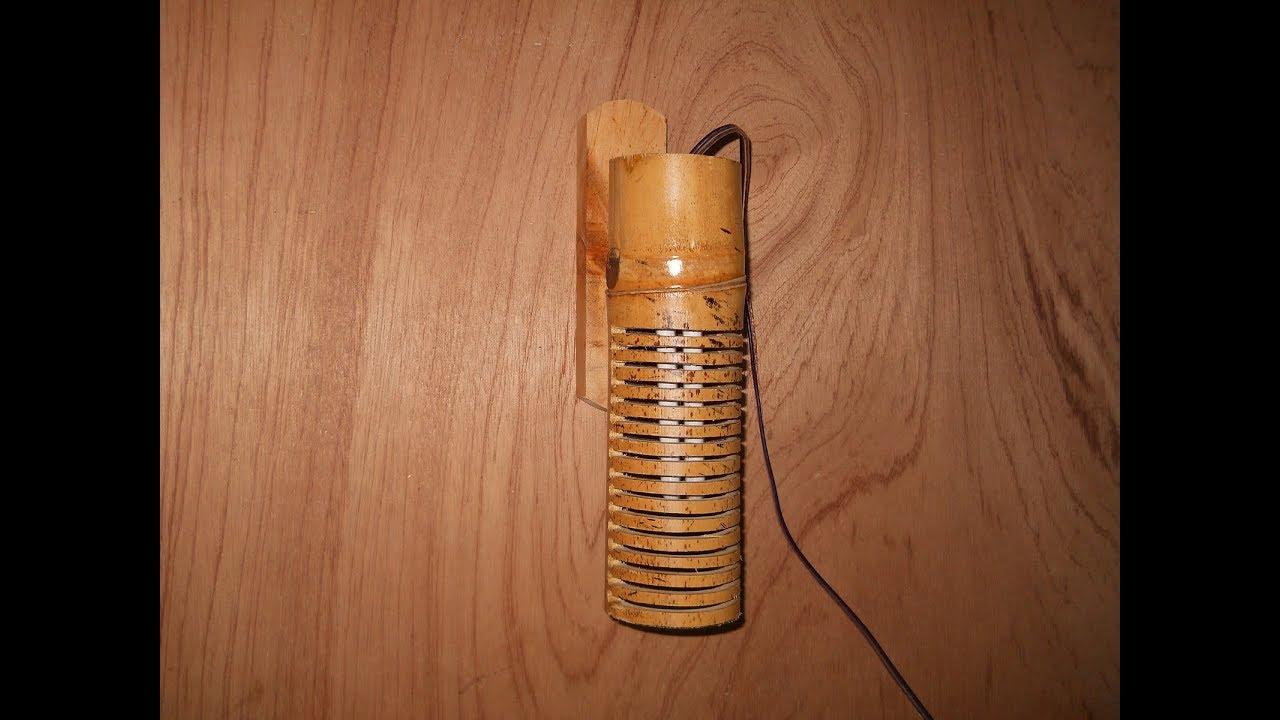 Cara Membuat Lampu Dinding Dari Bambu - YouTube