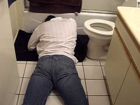 On The Bathroom Floor. Passed Out Interview On The Bathroom Floor