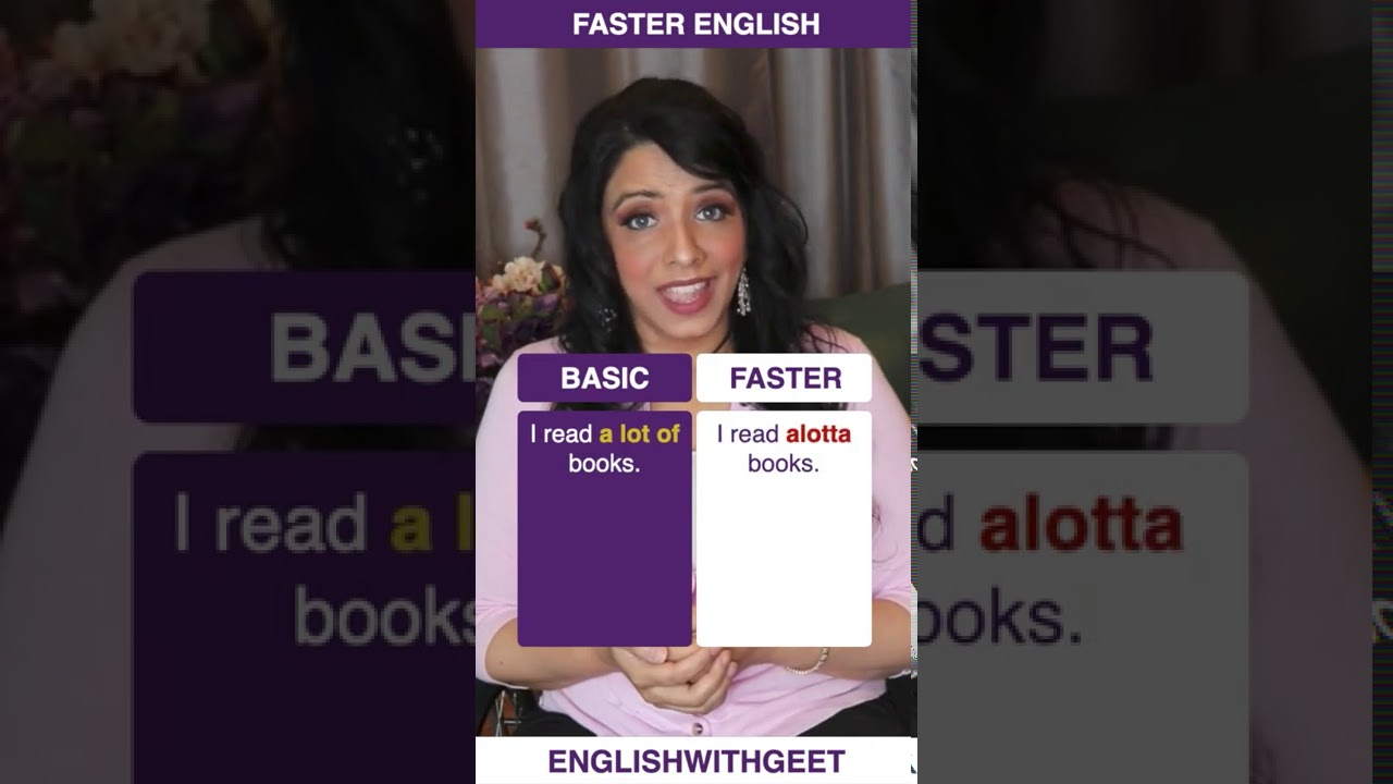 How to Speak English Fast and Understand Native English Speakers   Contractions   English With Geet
