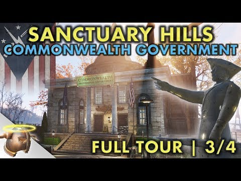 PROVISIONAL GOVERNMENT AT SANCTUARY HILLS | Part 3 - Huge, realistic Fallout 4 settlement and lore